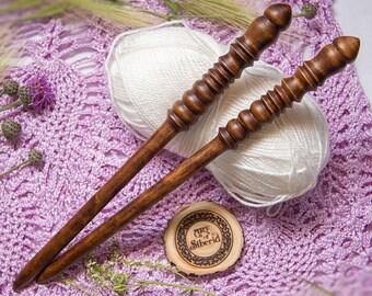 "Wooden knitting needles 12mm (0,47"") Exclusive handmade of natural SIBERIAN BIRCH WOOD #N5"