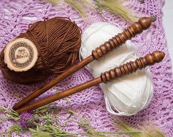 "Wooden knitting needles 11mm (0,43"") Exclusive handmade of natural SIBERIAN BIRCH WOOD #N4"