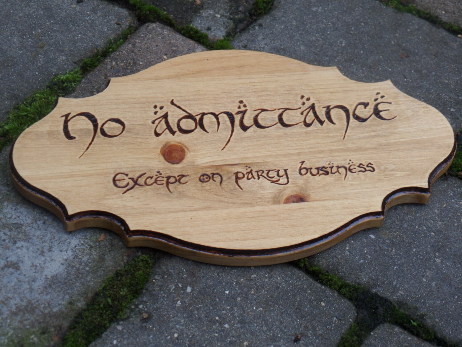 No Admittance Except On Party Business Lord Of The Rings Etsy Card Holder Circuit Board Geekery Mens Stained Glass Handmade 50