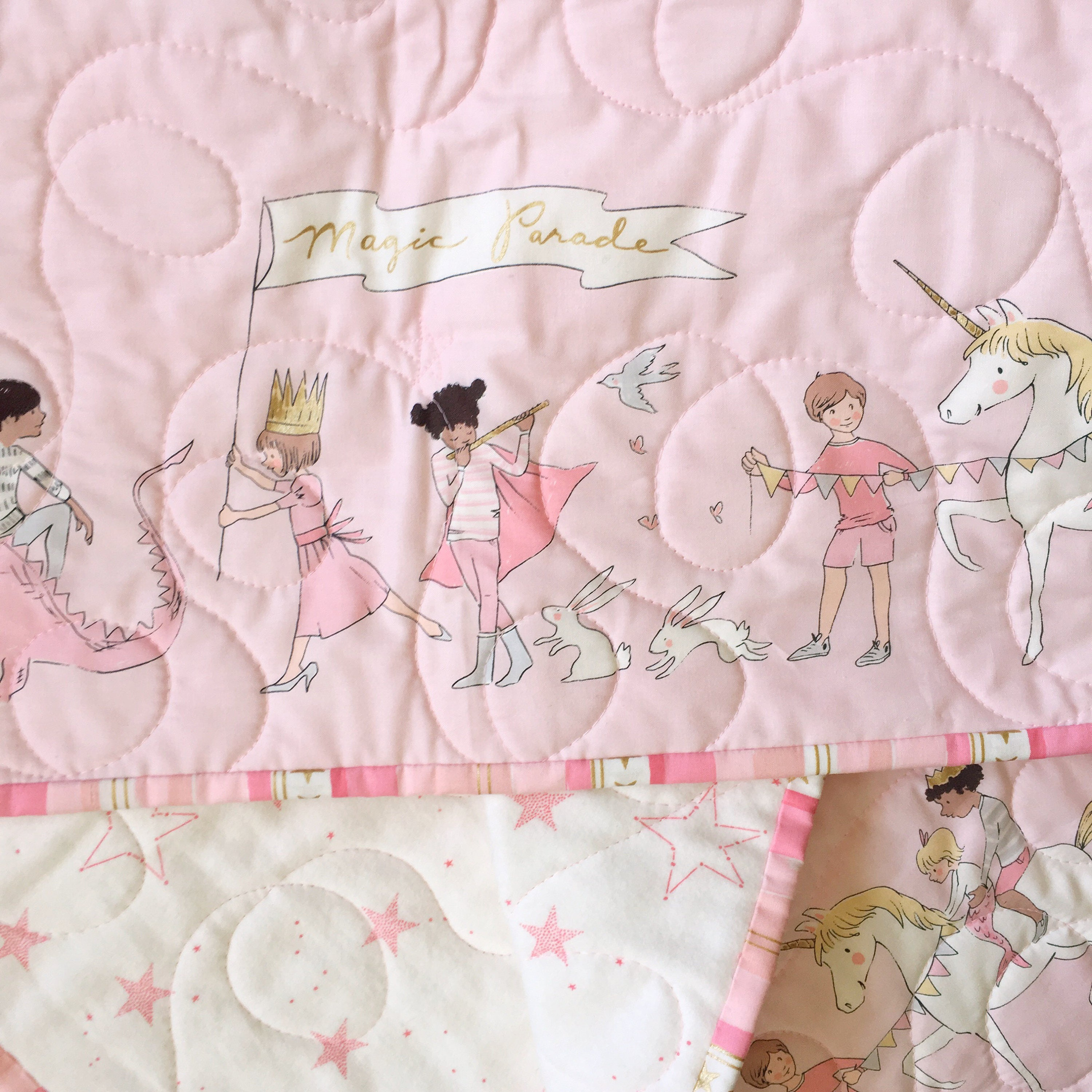 Pink And Gold Baby Blanket Magic Parade Blanket Baby Girl