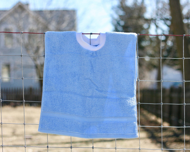 5151bb20b Light Blue Pullover Bib Terry Cloth Toddler Bib Towel Bib