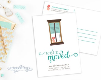 Moving Announcement Postcard Printable New Address Announcement Change of Address Cards New Home Postcard Moving Cards Digital Download