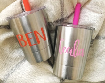 Custom Kids Stainless Steel Cup - Stainless Steel Cup - Kids Cup - Kid Gift - Stainless Cup - Ships Free