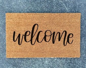 Welcome Doormat - Welcome Mat - Welcome Doormat - Housewarming Gift - New Home Gift - Doormat - Ships Free