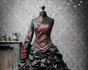 Black wedding gown | Etsy