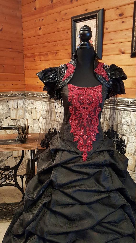 Außergewöhnliches schwarzes Brautkleid | Etsy