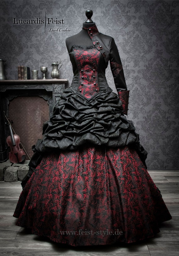 Exceptional black gothic wedding gown