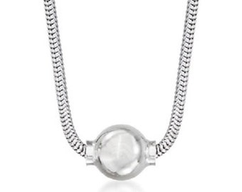 The Beach Ball Necklace in all 925 Sterling Silver Sold on Cape Cod