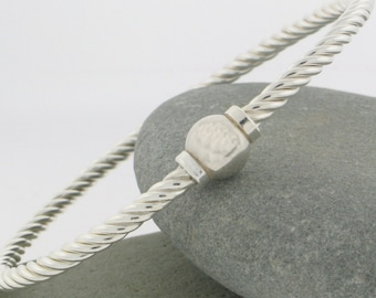 """Beach Ball """"Twist"""" Bracelet Screwball Bracelet  in Sterling Silver.Made and ships from  Cape Cod"""