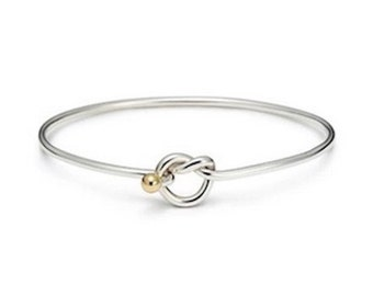 Love Knot Bracelet 925 Sterling silver-Rhodium Gold- Beach Ball Jewelry Collection From Michael's in Provincetown ships from cape Cod