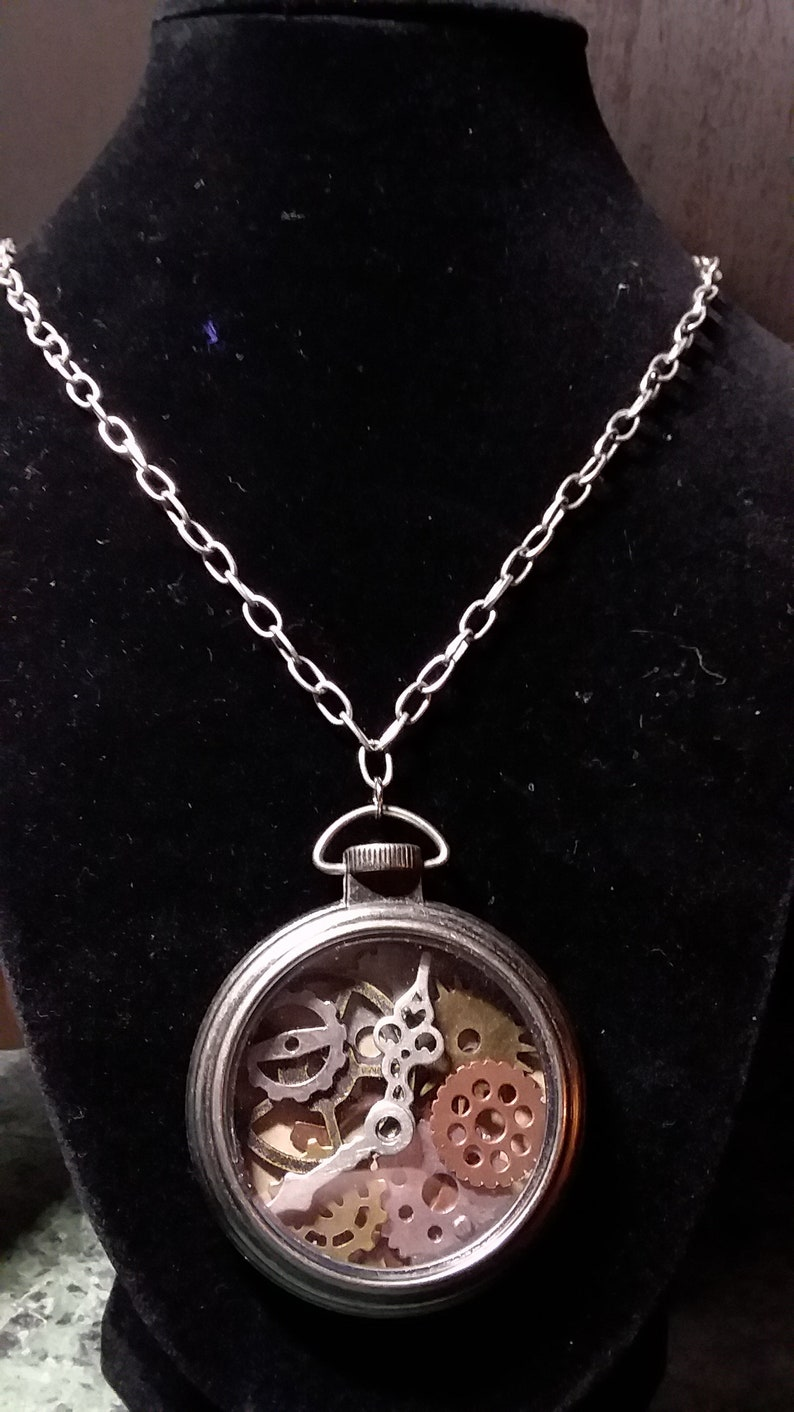 Necklaces  Steampunk Timepiece image 0
