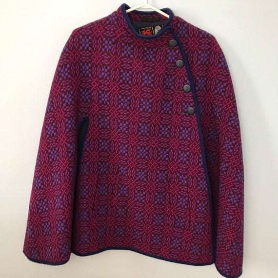 Vintage Welsh Woollens 100% Wool 1960s Mod Tapestr
