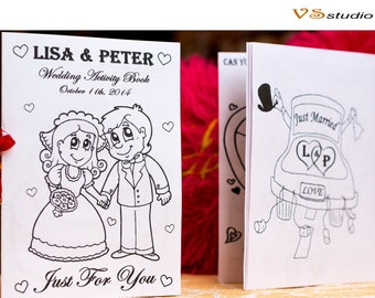 Kid Wedding Coloring Activity Book Pages Favor Printable Pdf File