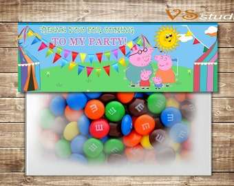 Peppa pig birthday grazie card personalizzata pdf