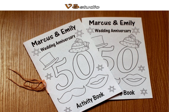 Kids Wedding Anniversary Activity Book 10th10th10th Wedding | Etsy