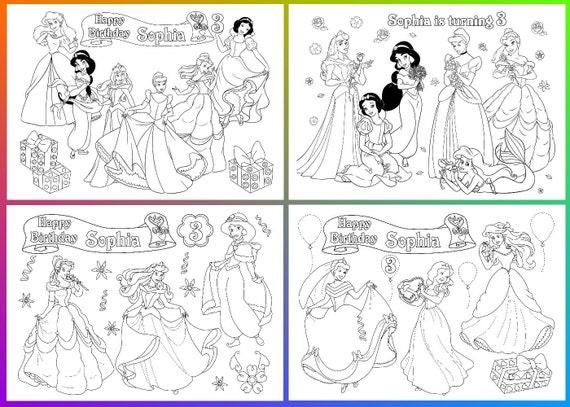 Fiesta de cumpleaños princesa de Disney princesas de Disney | Etsy