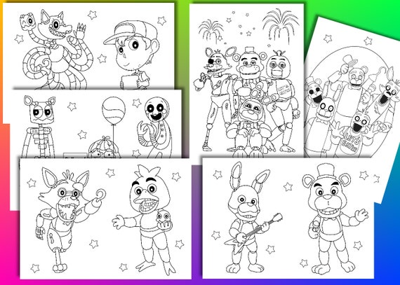 Five Nights At Freddy's Coloring Pages - Coloring Home | 407x570