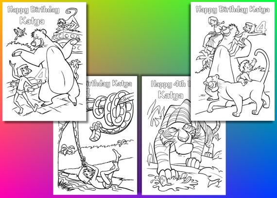 Jungle Book Coloring Pages Jungle Book Birthday Party Favor