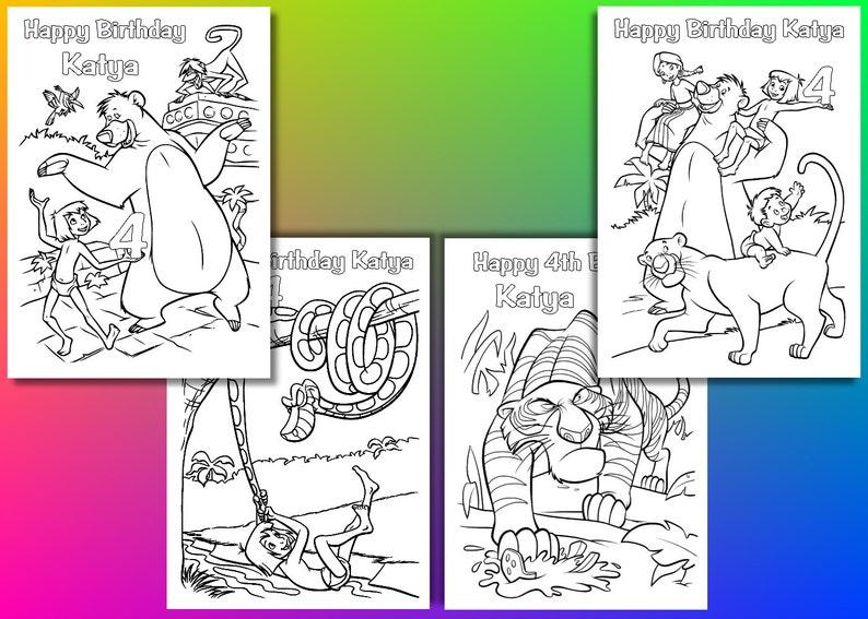 Libro Della Giungla Da Colorare File Pdf Pages Jungle Book Etsy