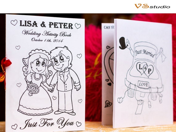 Kid Wedding Coloring Activity Book Pages