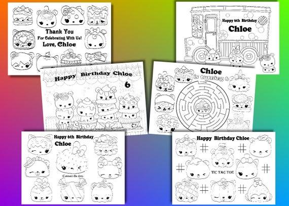 Num Noms Birthday Party Favor Num Noms Coloring Pages Pdf File