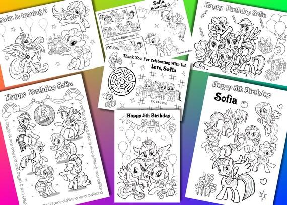 My Little Pony para colorear páginas páginas para colorear de | Etsy