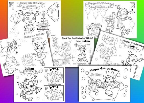 Vampirina Birthday Party favor Vampirina coloring pages PDF | Etsy