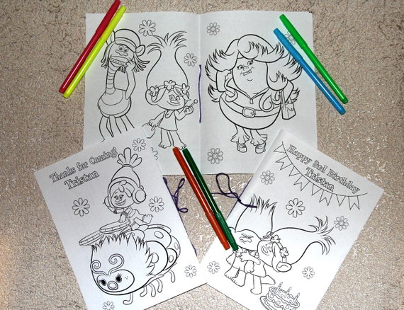 Trolls Birthday Party Coloring Pages Activity Book Pdf File Etsy