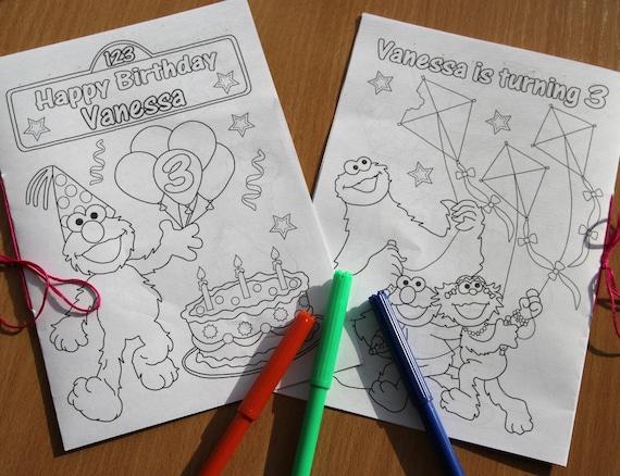 Fiesta de cumpleaños de calle sésamo colorear libro de | Etsy