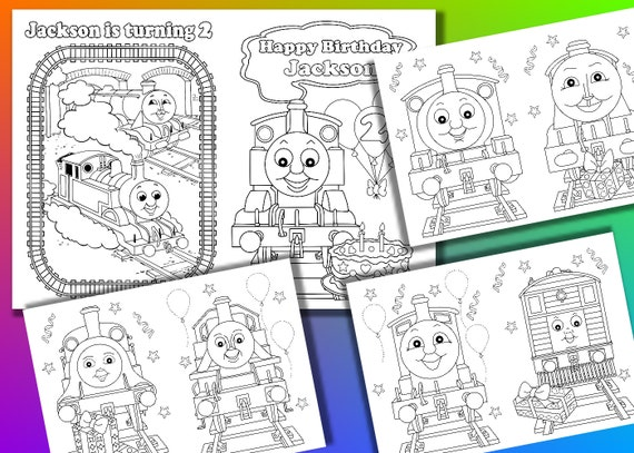 Thomas Birthday Party Coloring Book Thomas Coloring Pages Pdf File