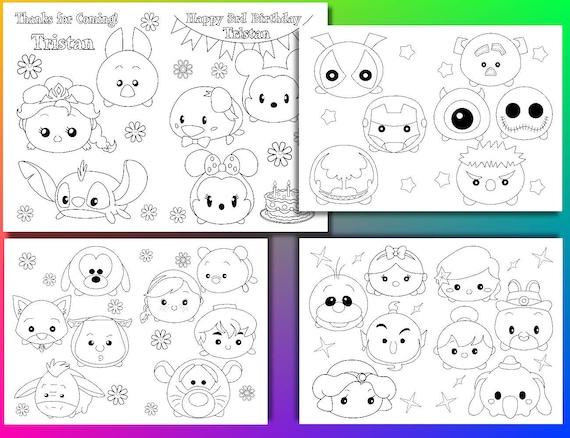 Tsum Tsum Disney Dibujos Para Colorear Imagesacolorierwebsite