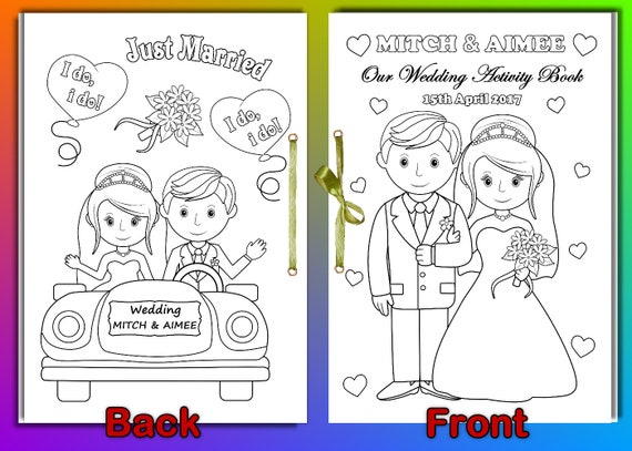 Kids Wedding Coloring Activity Book Wedding Coloring Pages Etsy