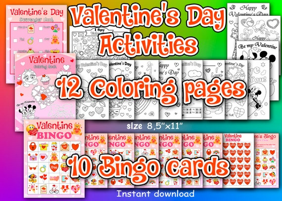 Valentine's Day Activities Valentine's Day Bingo
