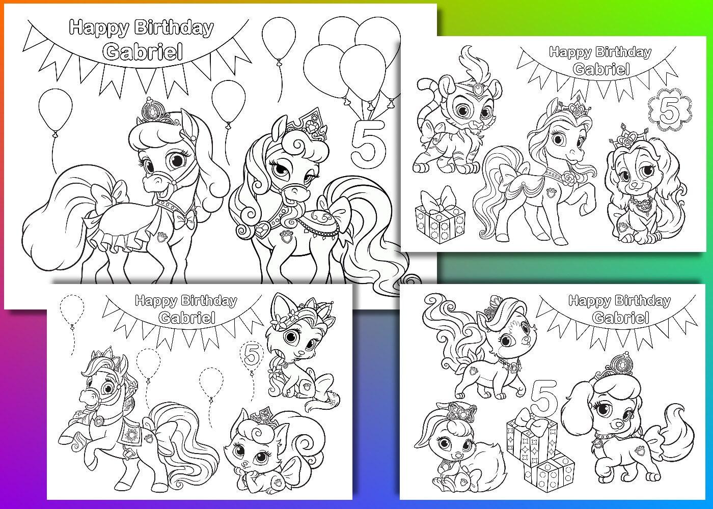 Princesa fiesta de cumpleaños de mascotas Palacio para | Etsy