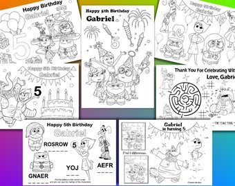 INSIDE OUT Birthday Party coloring pages, activity, PDF file