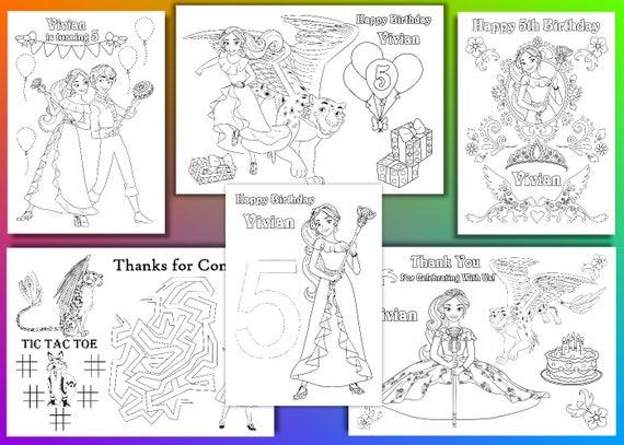 Elena de Avalor para colorear páginas favor fiesta de | Etsy