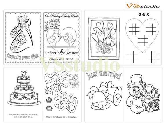 Boda para colorear libro de actividades niños de boda | Etsy