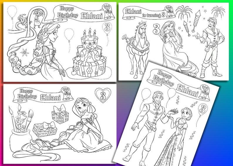 Kleurplaten Rapunzel Film.De Partij Van De Kindverjaardag Rapunzel Kleurplaat Etsy