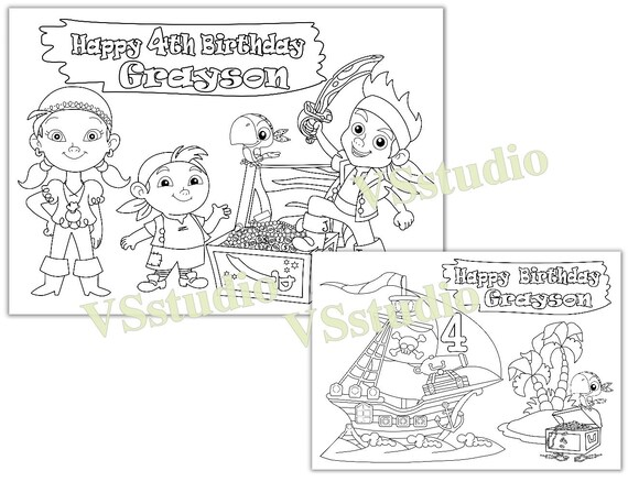 Jake and the Neverland Pirates Birthday Party favor Jake and   Etsy
