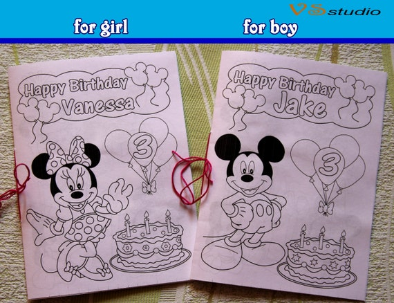 Minni E Mickey Mouse Da Colorare Libro Di Attività File Pdf Etsy