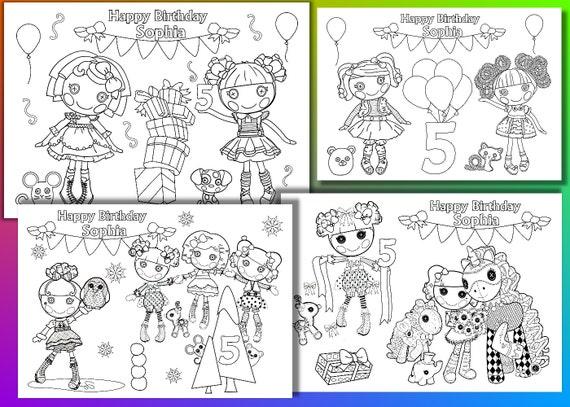 Fiesta de cumpleaños de lalaloopsy para colorear páginas | Etsy