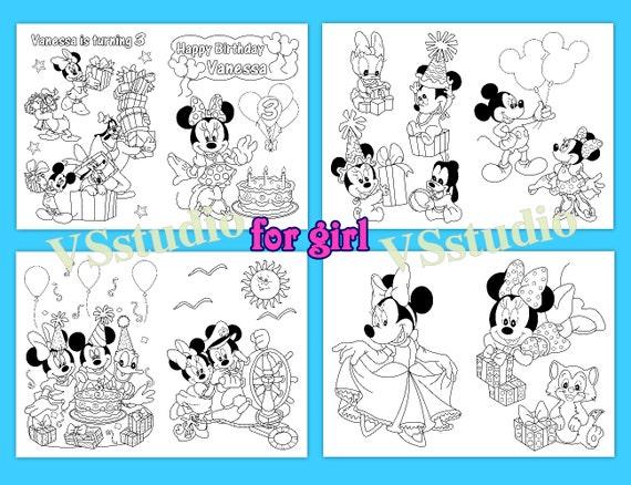 Minni y Mickey Mouse para colorear libro de actividades | Etsy