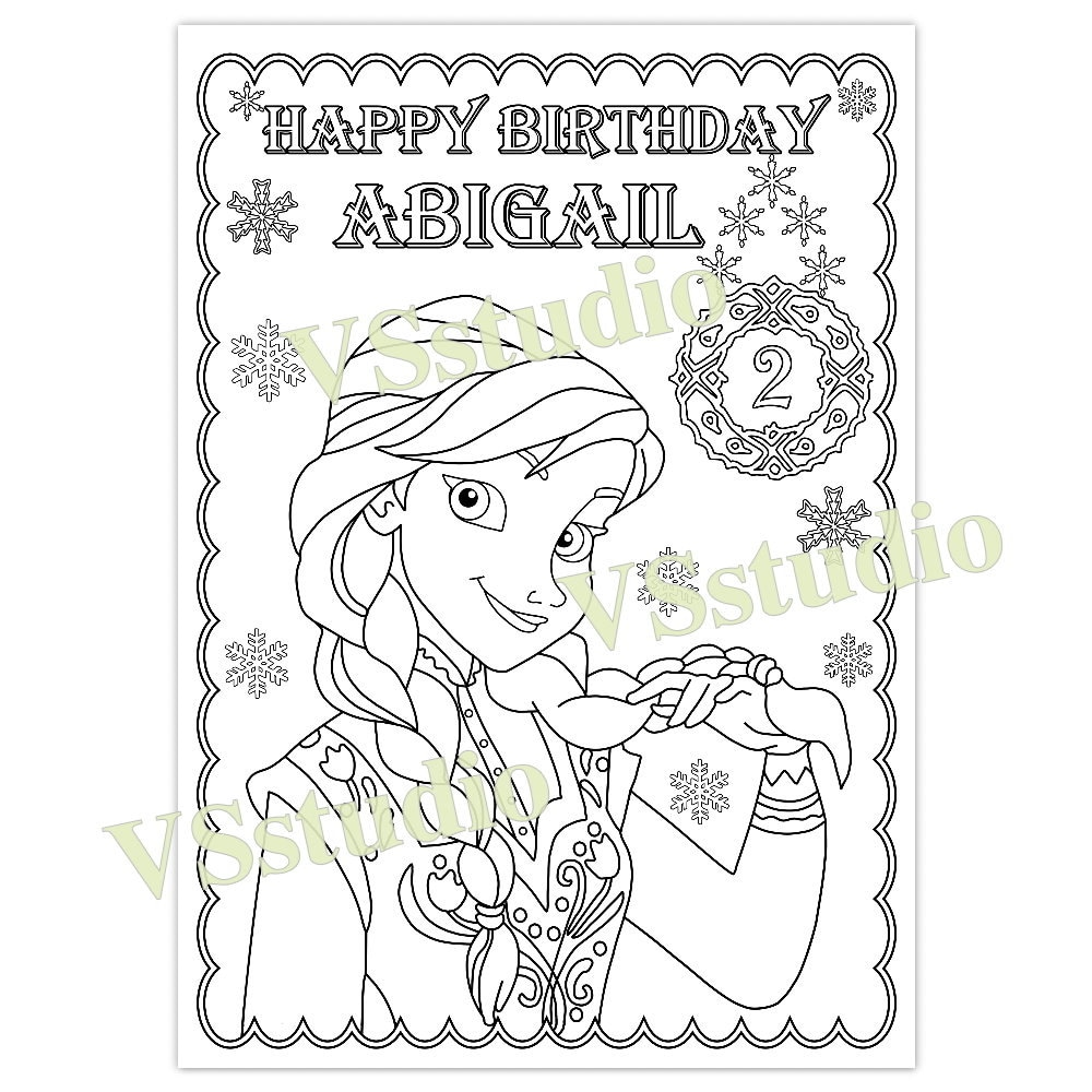 Frozen Birthday Party favor Frozen Birthday Party coloring | Etsy