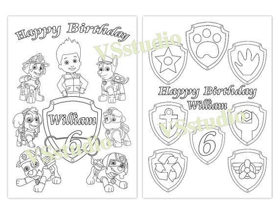 Paw Patrol Birthday Party Favor Paw Patrol Coloring Pages