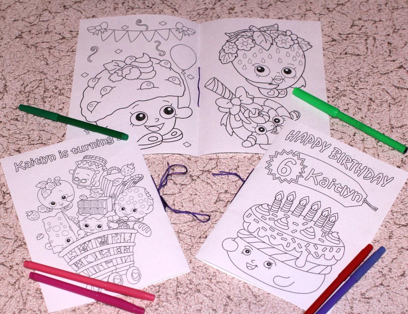 Shopkins Verjaardag Partij Kleurplaten Activiteit Boek Pdf Bestand