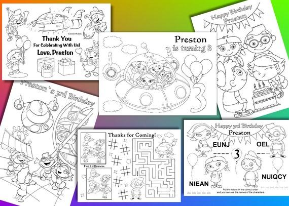 Little Einsteins coloring pages Little Einsteins Birthday | Etsy