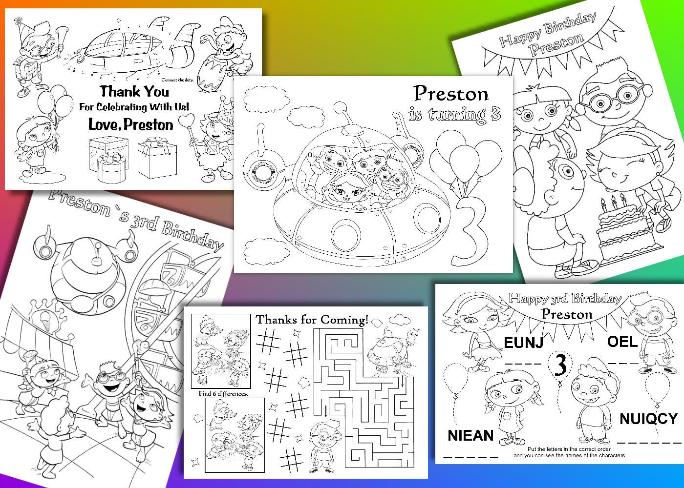 Little Einsteins coloring pages Little Einsteins Birthday | Etsy