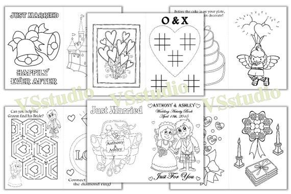 Personalizado niños boda libro de actividades, escocés de Escocia de boda, boda para imprimir para colorear páginas, archivo pdf