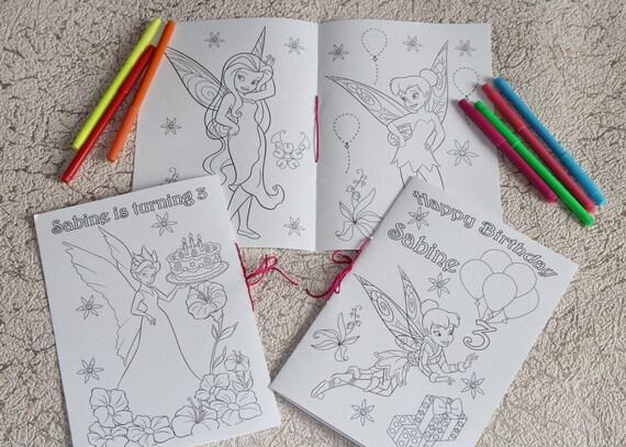 Actividad de colorear Tinkerbell libro archivo del PDF | Etsy