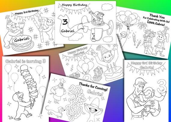 Disegni Da Colorare Festa Di Compleanno Di George Curiosi File Pdf Attività